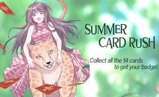 SUMMER CARD RUSH! Collect 14 cards to earn the special Badge!